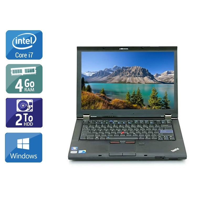 Lenovo ThinkPad T410 i7 4Go RAM 2To HDD Windows 10