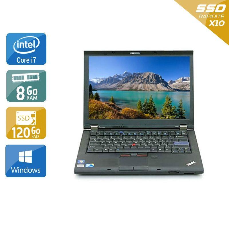 Lenovo ThinkPad T410 i7 8Go RAM 120Go SSD Windows 10