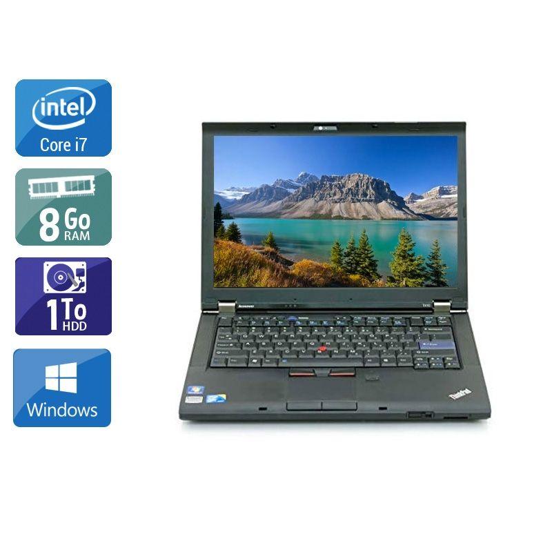 Lenovo ThinkPad T410 i7 8Go RAM 1To HDD Windows 10