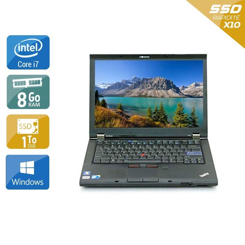 Lenovo ThinkPad T410 i7 8Go RAM 1To SSD Windows 10
