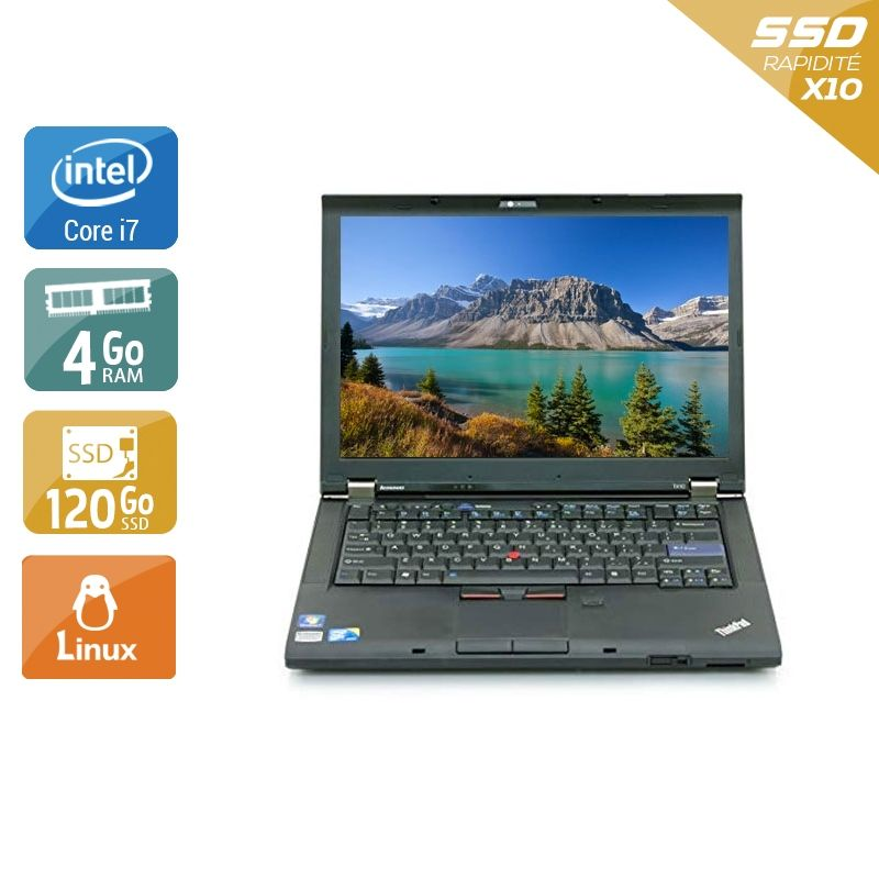 Lenovo ThinkPad T410 i7 4Go RAM 120Go SSD Linux