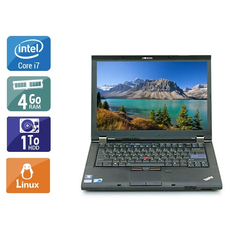 Lenovo ThinkPad T410 i7 4Go RAM 1To HDD Linux