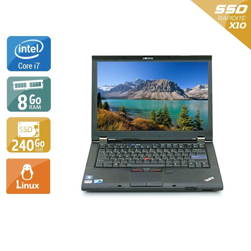 Lenovo ThinkPad T410 i7 8Go RAM 240Go SSD Linux