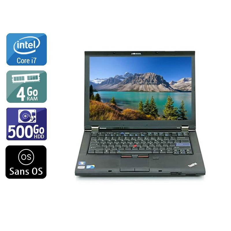 Lenovo ThinkPad T410 i7 4Go RAM 500Go HDD Sans OS