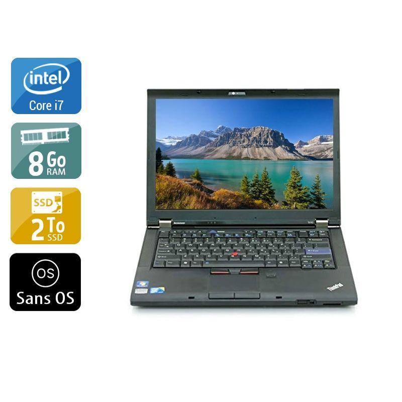 Lenovo ThinkPad T410 i7 8Go RAM 2To SSD Sans OS