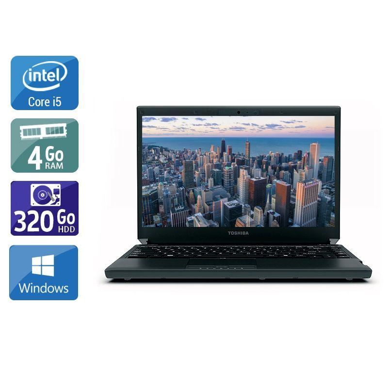 Toshiba Portégé R830 i5 4Go RAM 320Go HDD Windows 10