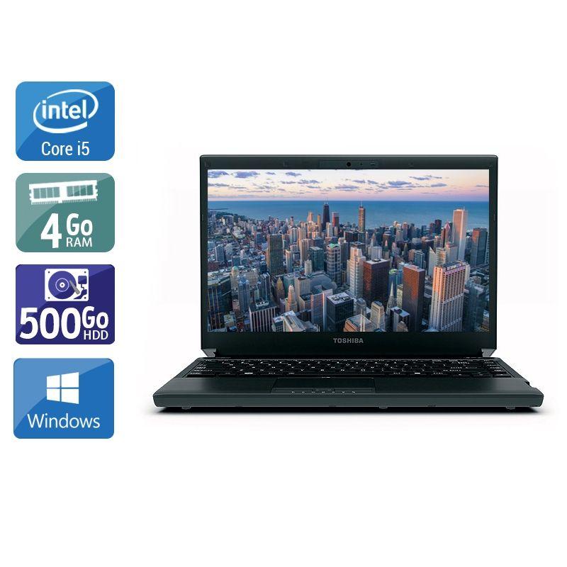 Toshiba Portégé R830 i5 4Go RAM 500Go HDD Windows 10
