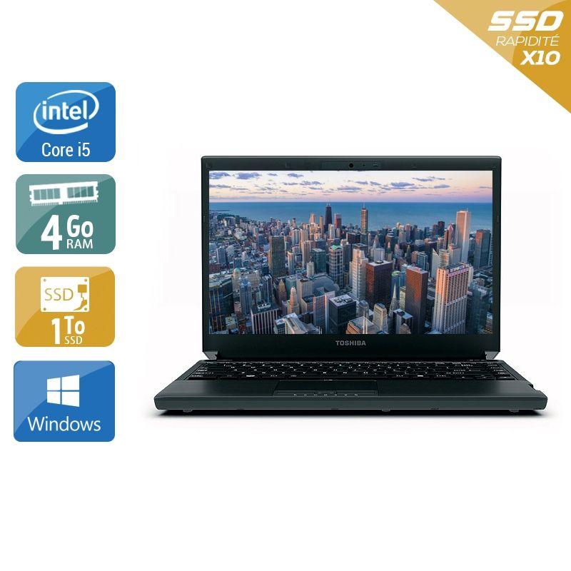 Toshiba Portégé R830 i5 4Go RAM 1To SSD Windows 10