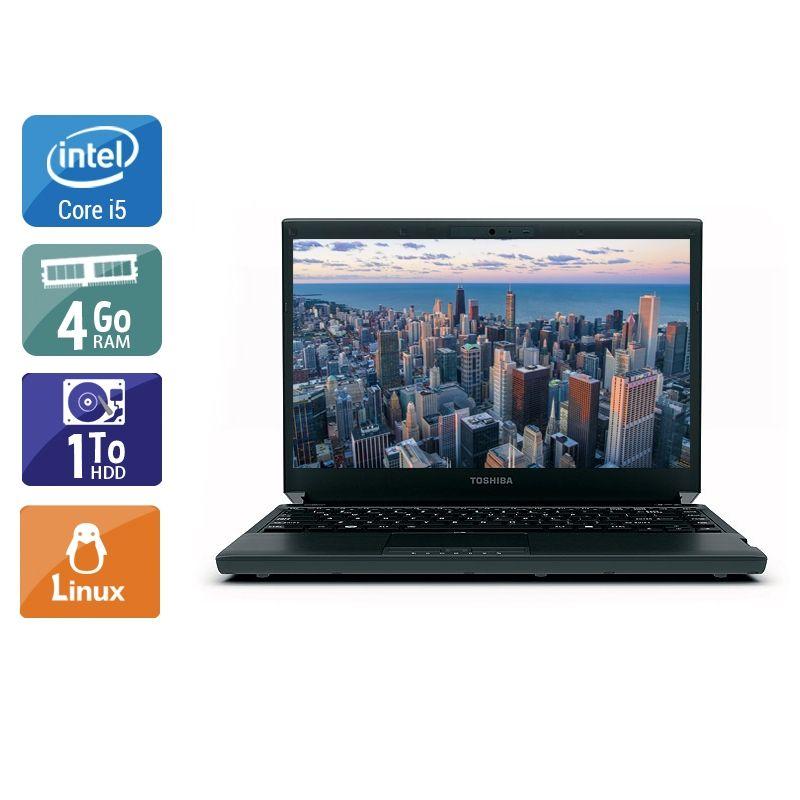 Toshiba Portégé R830 i5 4Go RAM 1To HDD Linux