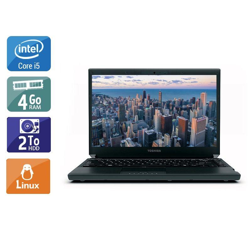 Toshiba Portégé R830 i5 4Go RAM 2To HDD Linux
