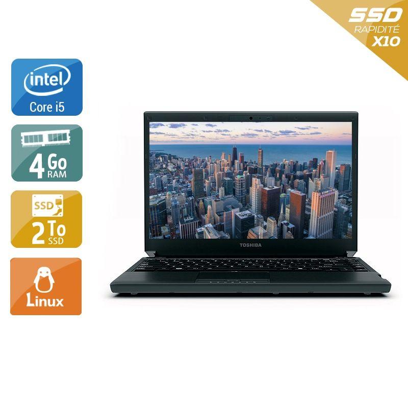 Toshiba Portégé R830 i5 4Go RAM 2To SSD Linux