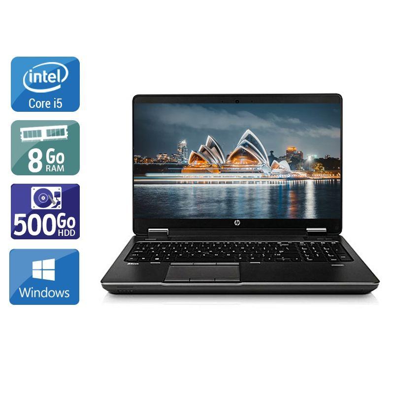 HP ZBook 15 G1 i5 8Go RAM 500Go HDD Windows 10