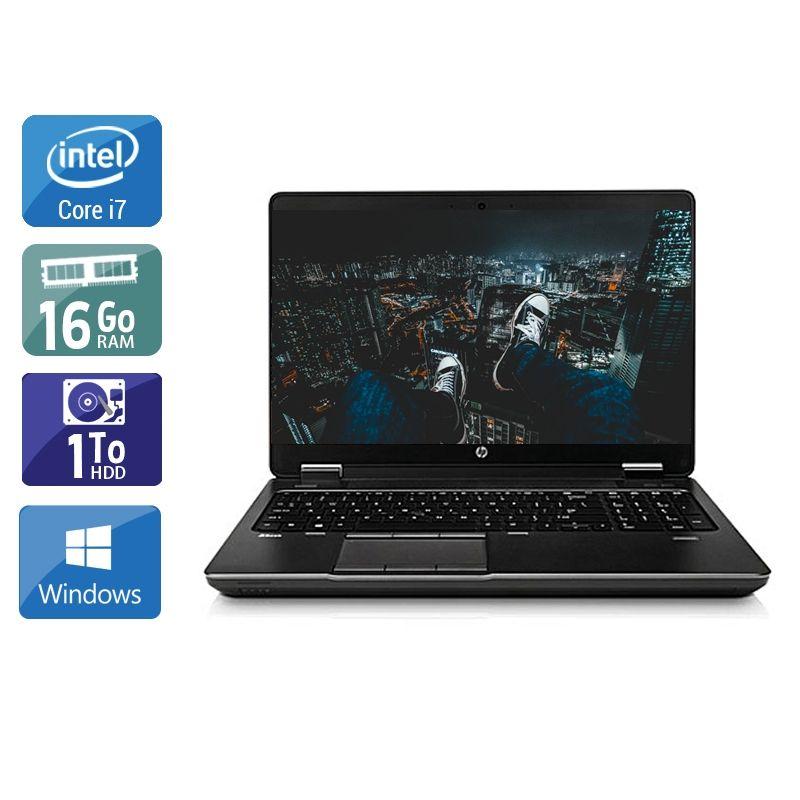 HP ZBook 15 G1 i7 16Go RAM 1To HDD Windows 10