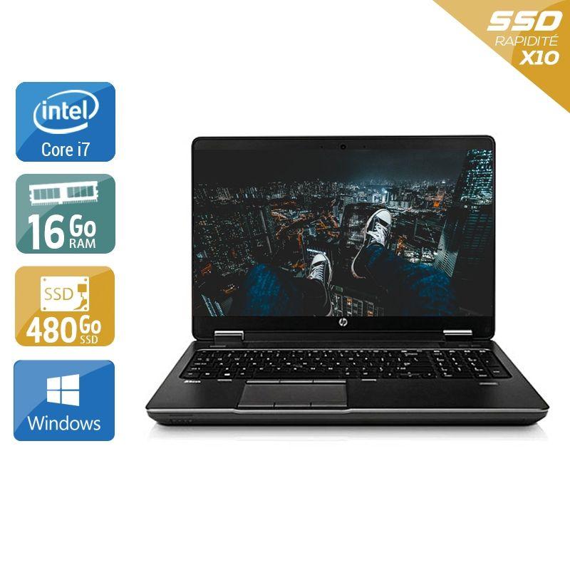 HP ZBook 15 G1 i7 16Go RAM 480Go SSD Windows 10