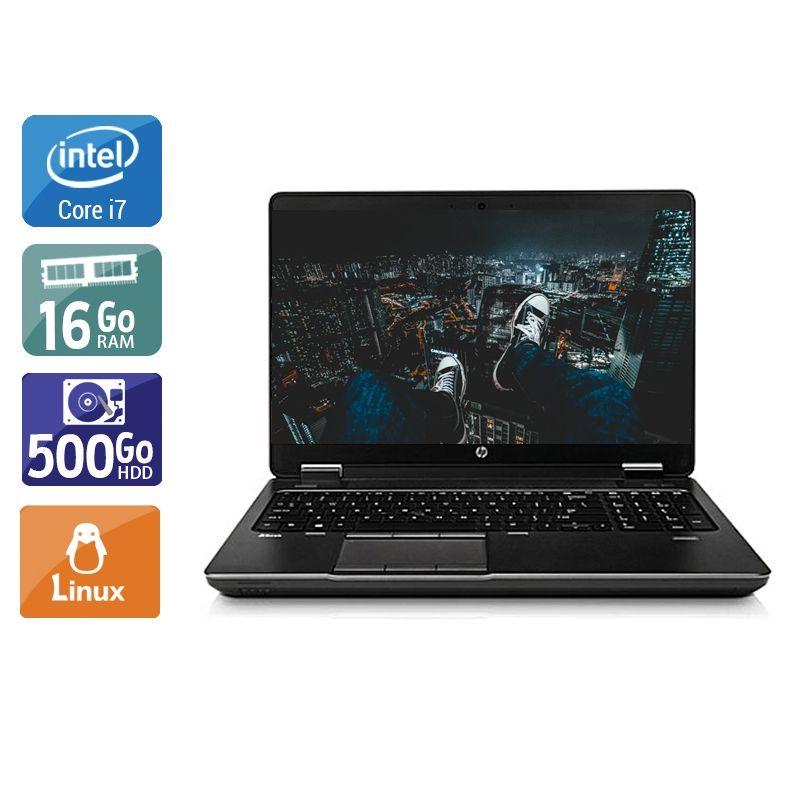 HP ZBook 15 G1 i7 16Go RAM 500Go HDD Linux