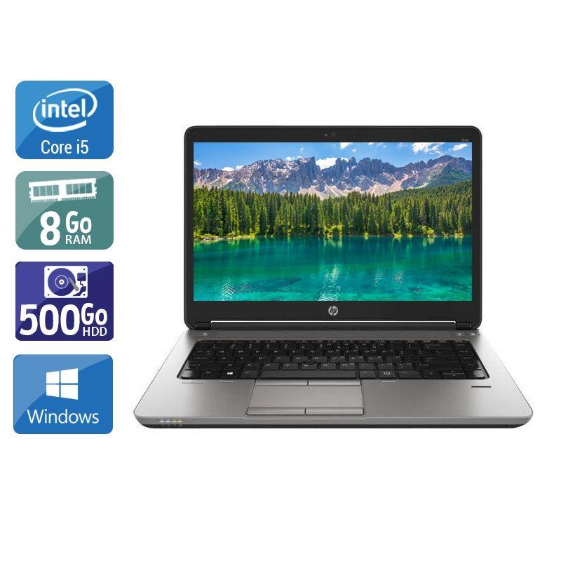 HP ProBook 640 G1 i5 8Go RAM 500Go HDD Windows 10