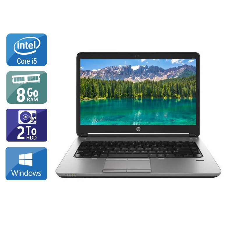HP ProBook 640 G1 i5 8Go RAM 2To HDD Windows 10