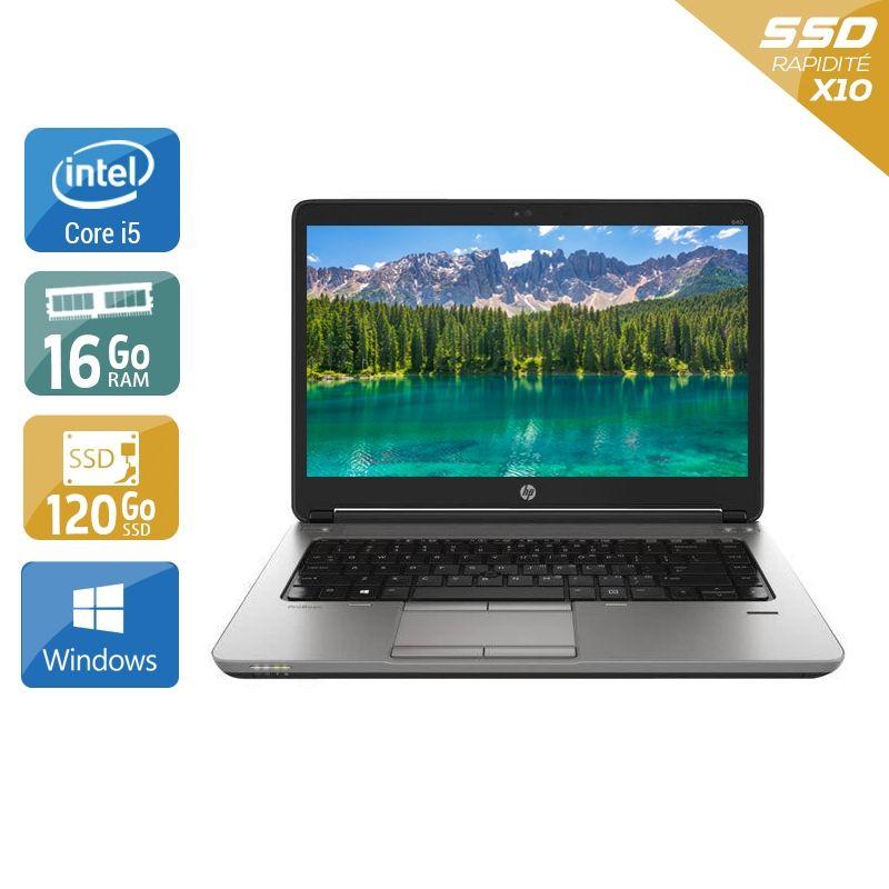 HP ProBook 640 G1 i5 16Go RAM 120Go SSD Windows 10