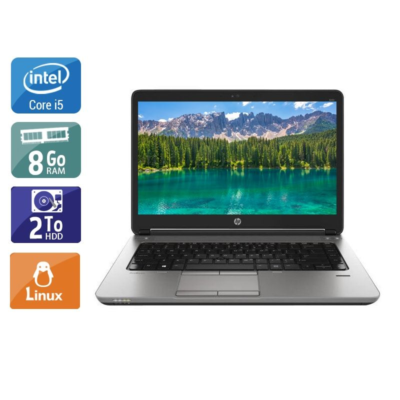 HP ProBook 640 G1 i5 8Go RAM 2To HDD Linux