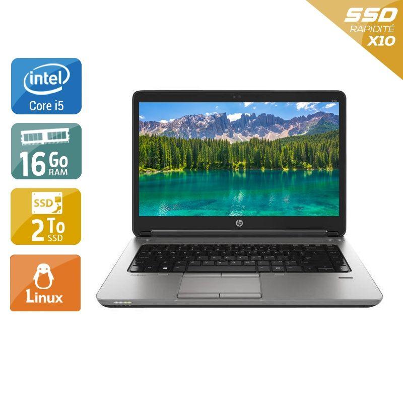 HP ProBook 640 G1 i5 16Go RAM 2To SSD Linux