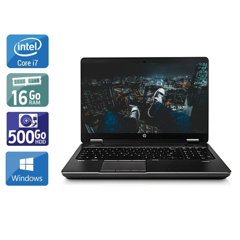 HP ZBook 15 G1 i7 16Go RAM 500Go HDD Windows 10
