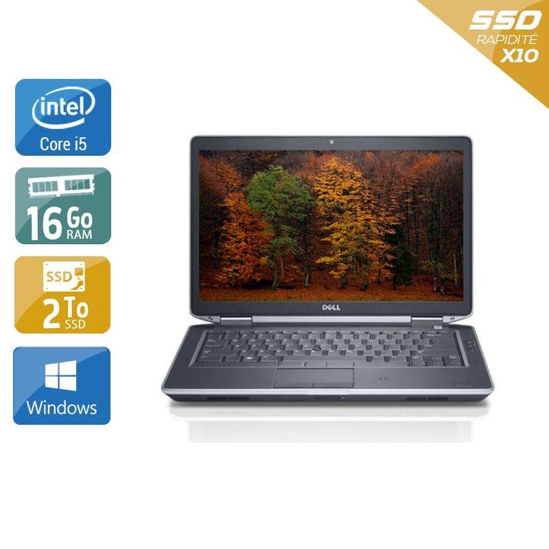 Dell Latitude E5430 i5 16Go RAM 2To SSD Windows 10