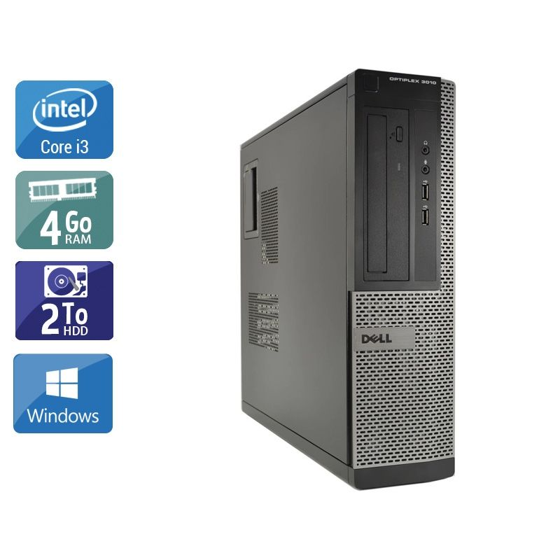Dell Optiplex 3010 Desktop i3 4Go RAM 2To HDD Windows 10
