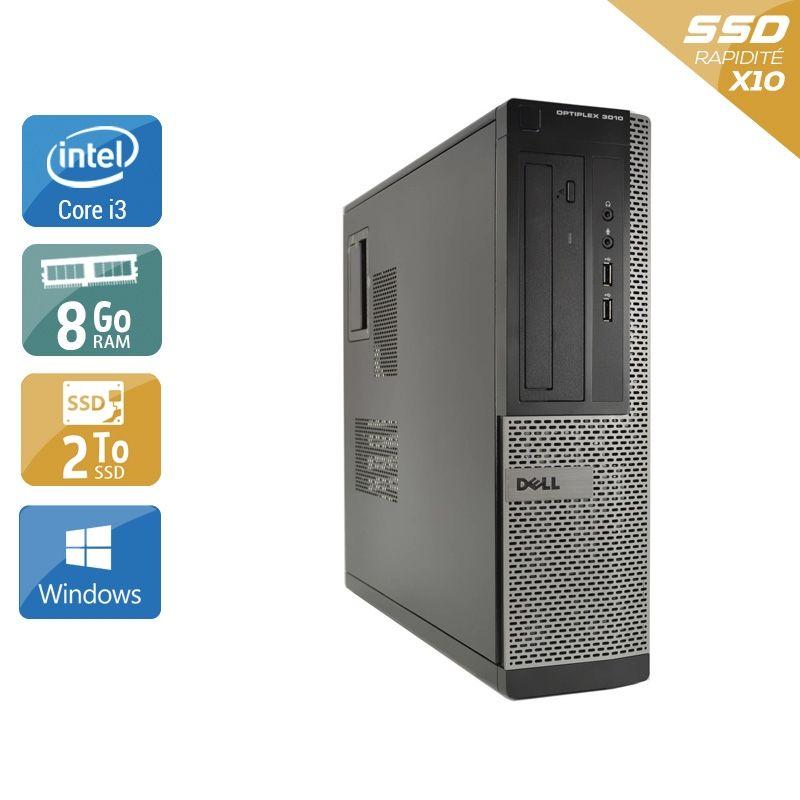 Dell Optiplex 3010 Desktop i3 8Go RAM 2To SSD Windows 10