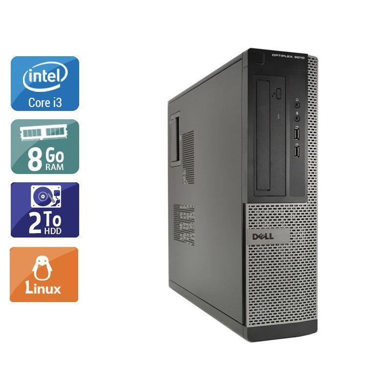 Dell Optiplex 3010 Desktop i3 8Go RAM 2To HDD Linux