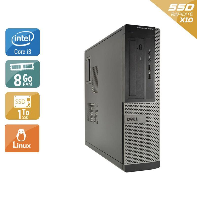 Dell Optiplex 3010 Desktop i3 8Go RAM 2To SSD Linux
