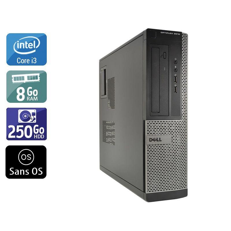 Dell Optiplex 3010 Desktop i3 8Go RAM 250Go HDD Sans OS