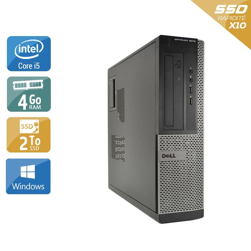 Dell Optiplex 3010 Desktop i5 4Go RAM 2To SSD Windows 10