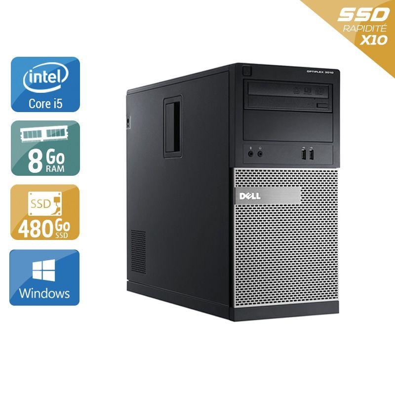 Dell Optiplex 3010 Tower i5 8Go RAM 480Go SSD Windows 10