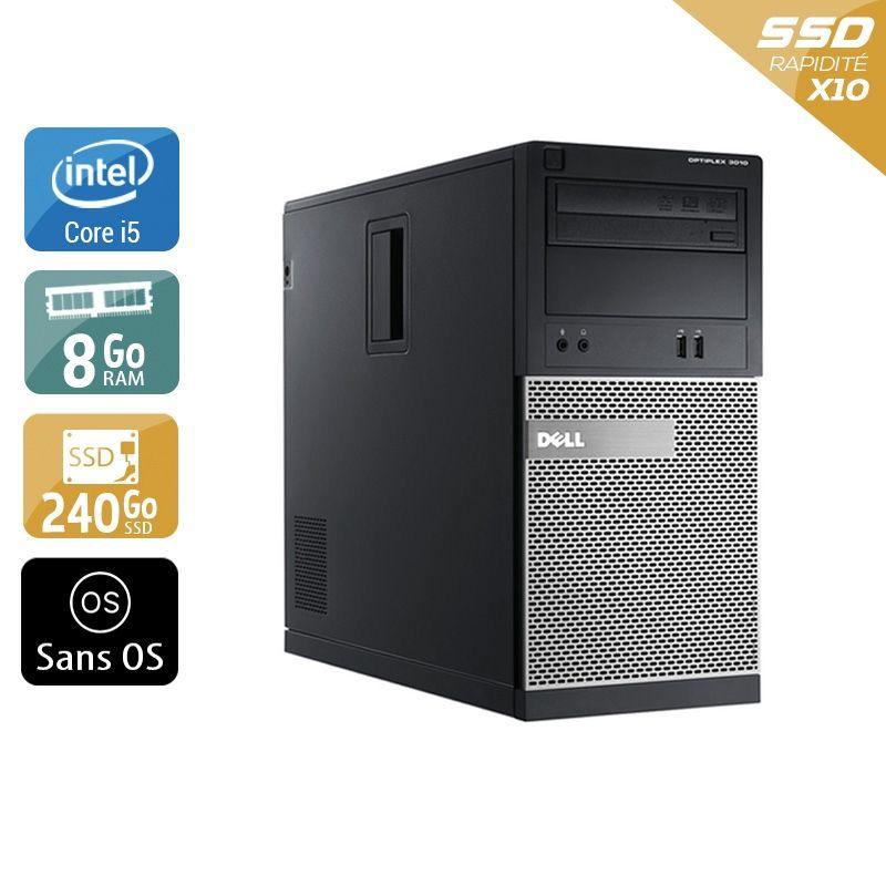 Dell Optiplex 3010 Tower i5 8Go RAM 240Go SSD Sans OS