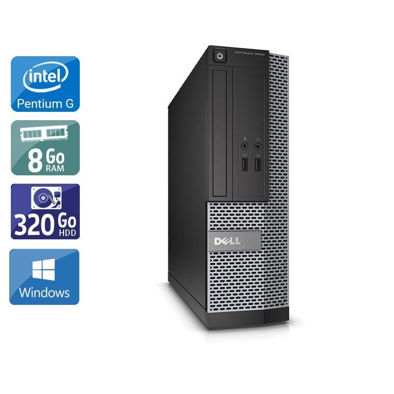 Dell Optiplex 3010 SFF Pentium G Dual Core 8Go RAM 320Go HDD Windows 10