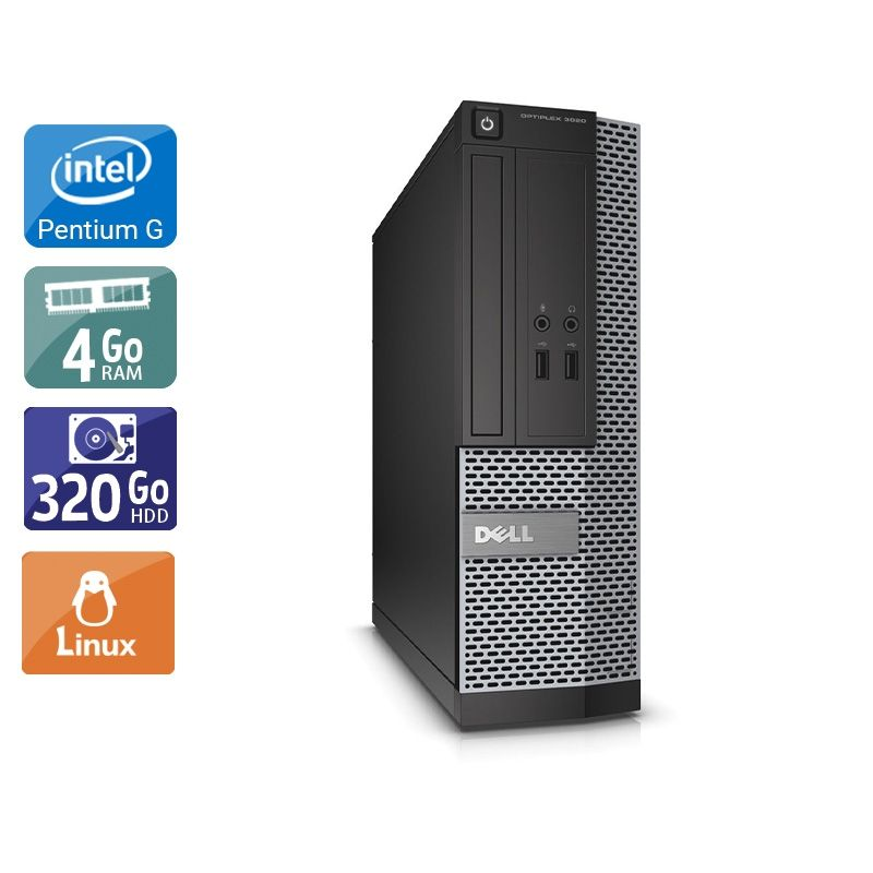 Dell Optiplex 3010 SFF Pentium G Dual Core 4Go RAM 320Go HDD Linux