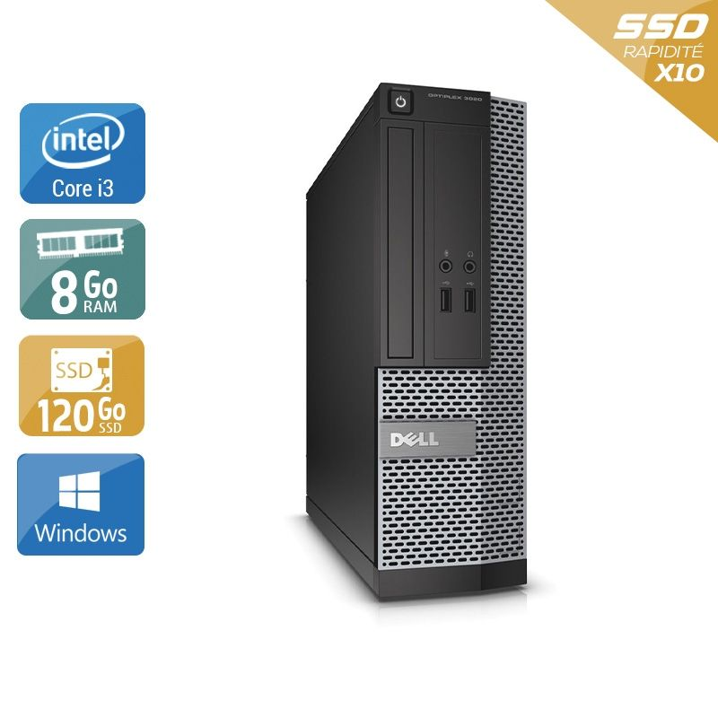 Dell Optiplex 3010 SFF i3 8Go RAM 120Go SSD Windows 10