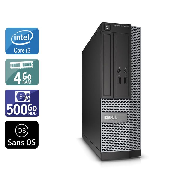 Dell Optiplex 3010 SFF i3 4Go RAM 500Go HDD Sans OS