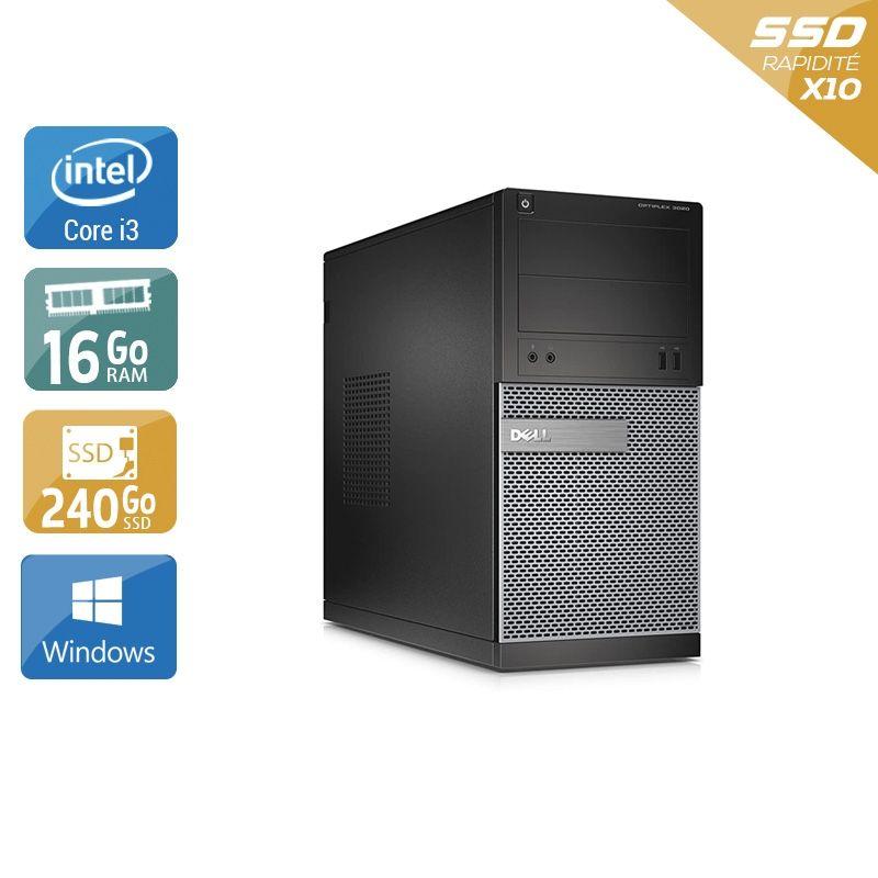 Dell Optiplex 3020 Tower i3 16Go RAM 240Go SSD Windows 10