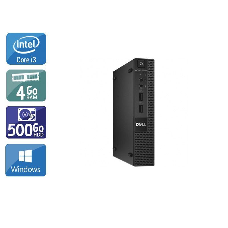 Dell Optiplex 3020M Micro i3 4Go RAM 500Go HDD Windows 10