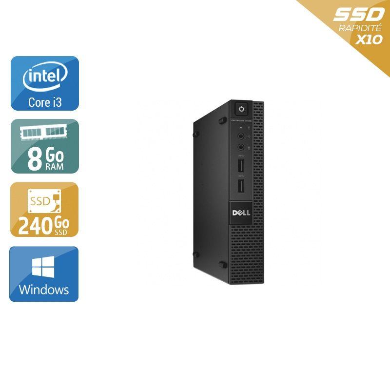 Dell Optiplex 3020M Micro i3 8Go RAM 240Go SSD Windows 10