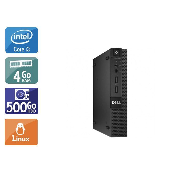 Dell Optiplex 3020M Micro i3 4Go RAM 500Go HDD Linux