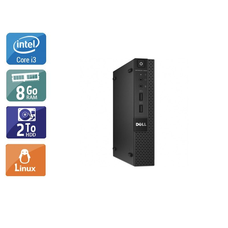 Dell Optiplex 3020M Micro i3 8Go RAM 2To HDD Linux