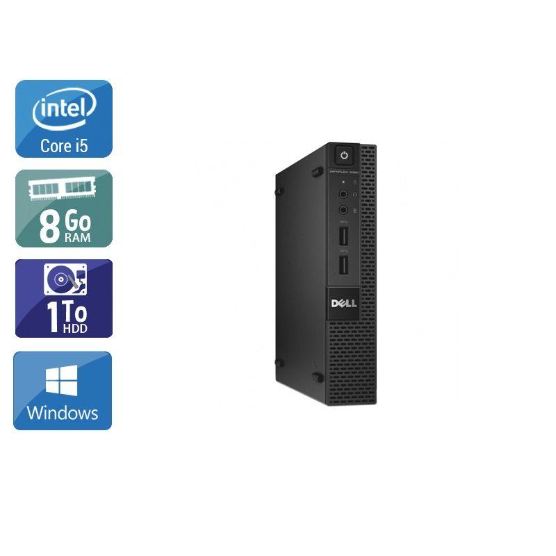 Dell Optiplex 3020M Micro i5 8Go RAM 1To HDD Windows 10