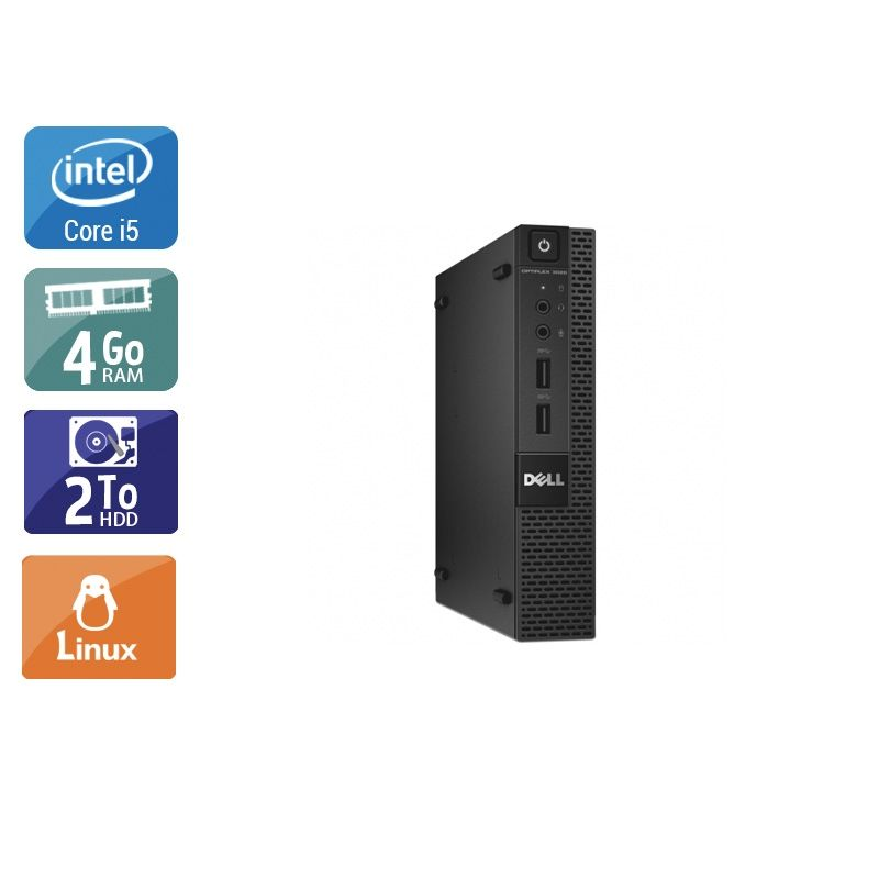 Dell Optiplex 3020M Micro i5 4Go RAM 2To HDD Linux