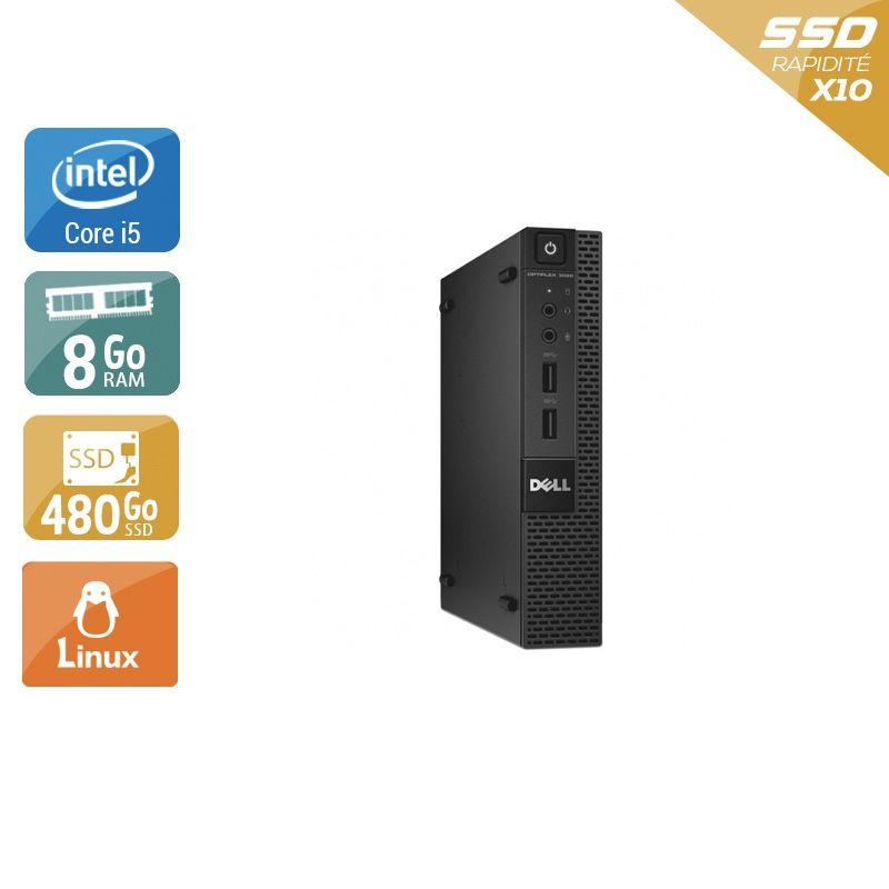 Dell Optiplex 3020M Micro i5 8Go RAM 480Go SSD Linux