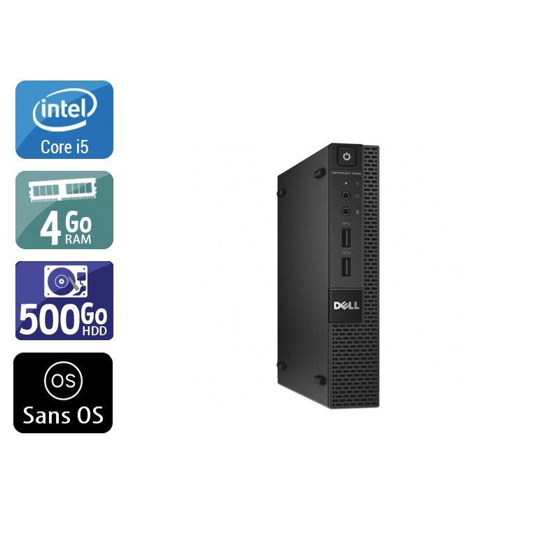 Dell Optiplex 3020M Micro i5 4Go RAM 500Go HDD Sans OS