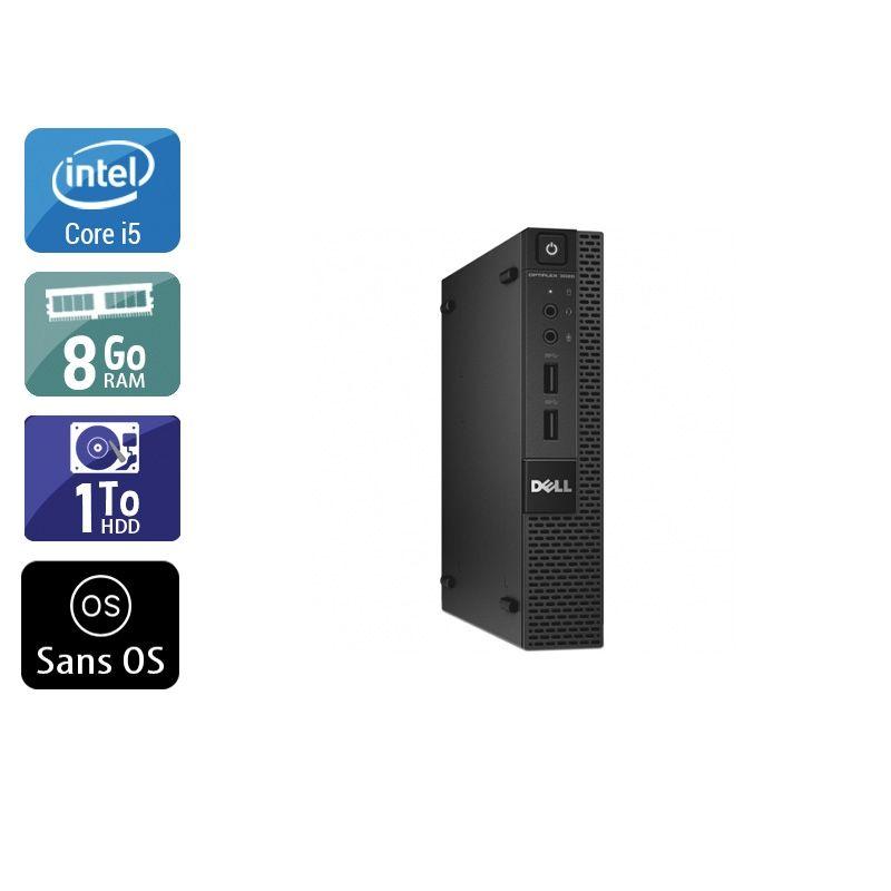 Dell Optiplex 3020M Micro i5 8Go RAM 1To HDD Sans OS