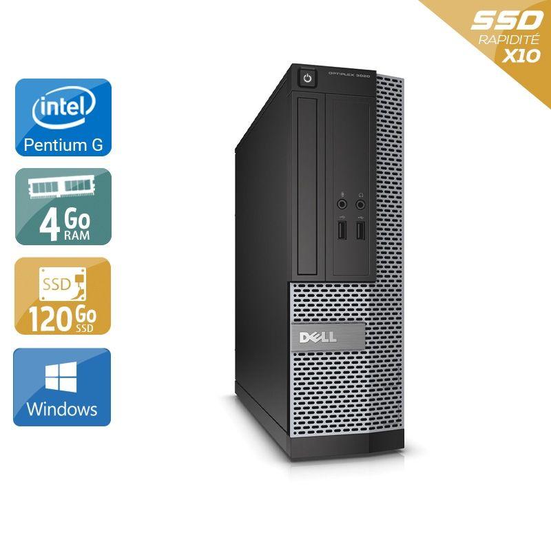 Dell Optiplex 3020 SFF Pentium G Dual Core 4Go RAM 120Go SSD Windows 10