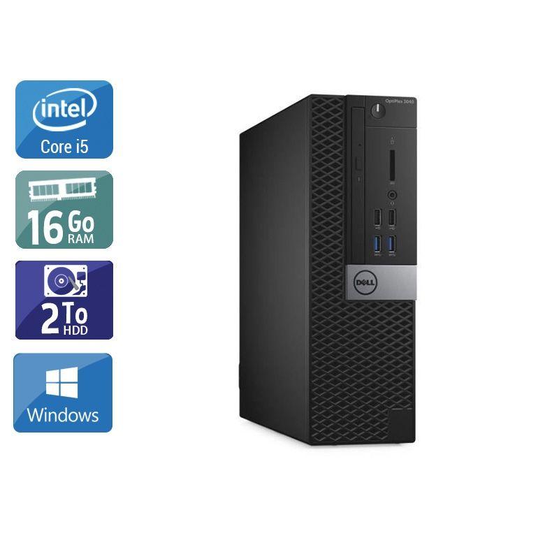 Dell Optiplex 3040 SFF i5 Gen 6 16Go RAM 2To HDD Windows 10